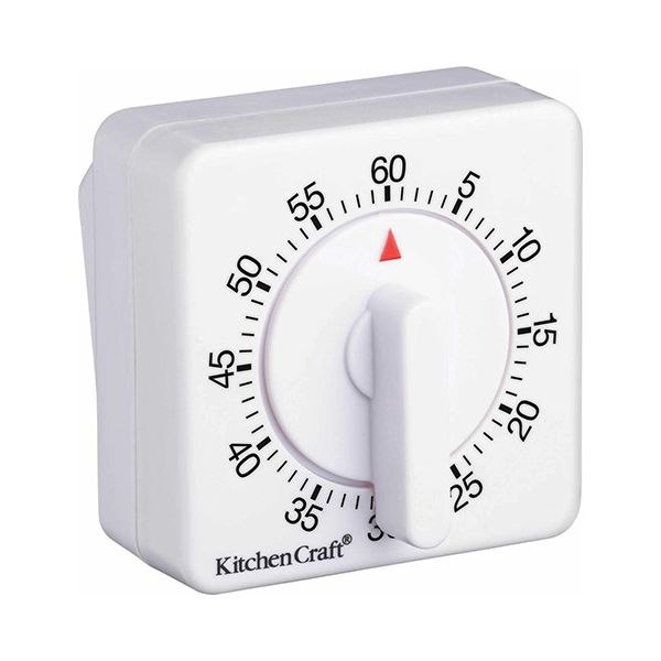 KitchenCraft Deluxe Half Round Wind-Up 60 Minute Timer