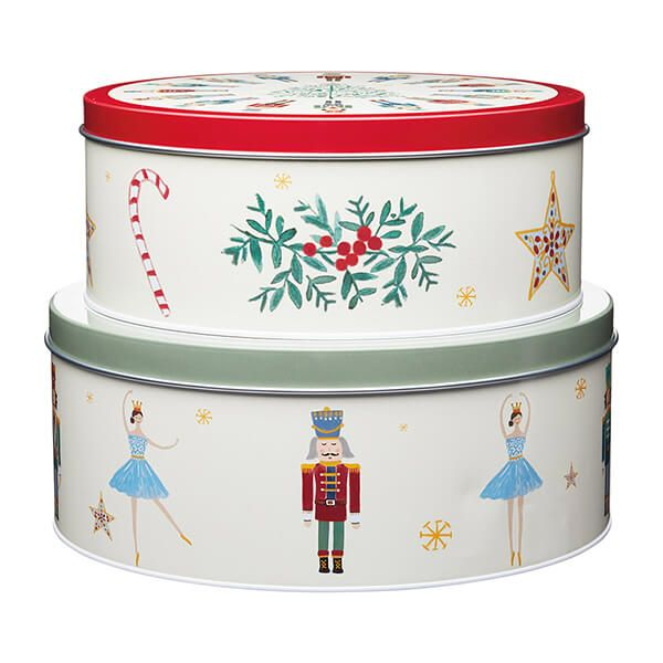 The Nutcracker Collection Set Of 2 Storage Tins