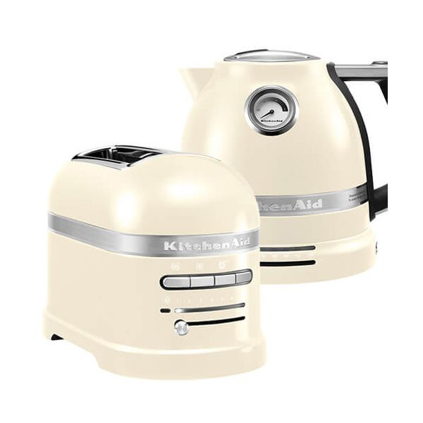 KitchenAid Artisan Almond Cream 2 Slot Toaster and Kettle Set