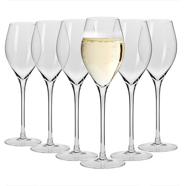 Maxwell & Williams Vino Set Of 6 280Ml Prosecco Glasses Gift Boxed