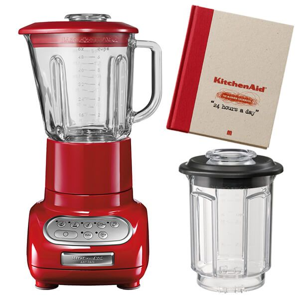 KitchenAid Artisan Empire Red Blender with Culinary Jar and FREE Gifts