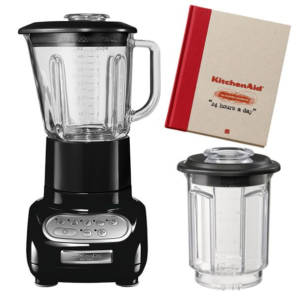 KitchenAid Artisan Onyx Black Blender with Culinary Jar and FREE Gifts