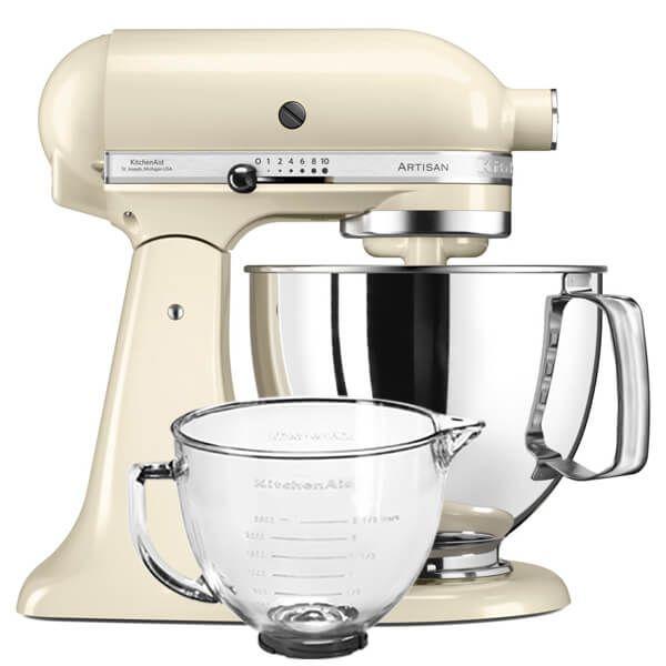 KitchenAid Artisan 125 Almond Cream Food Mixer With FREE Gift