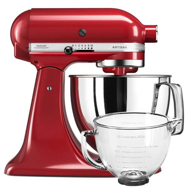 KitchenAid Artisan 125 Empire Red Food Mixer With FREE Gift