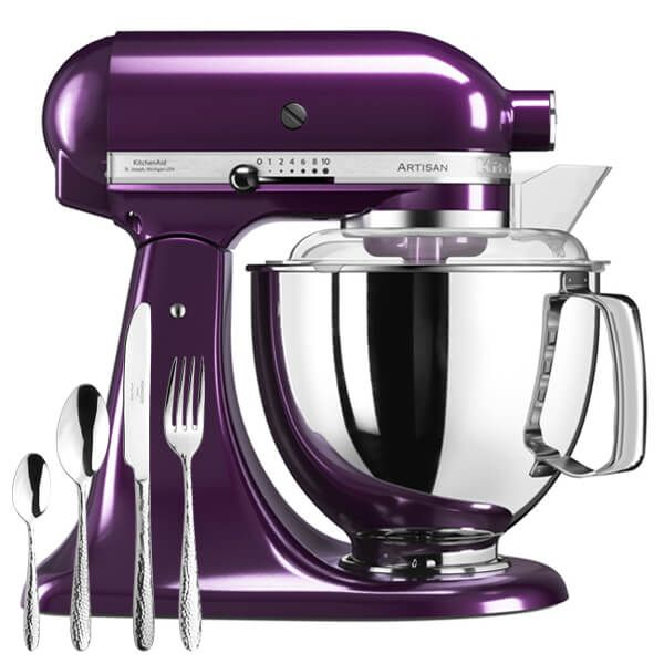 KitchenAid Artisan Plumberry Food Mixer With FREE Gift