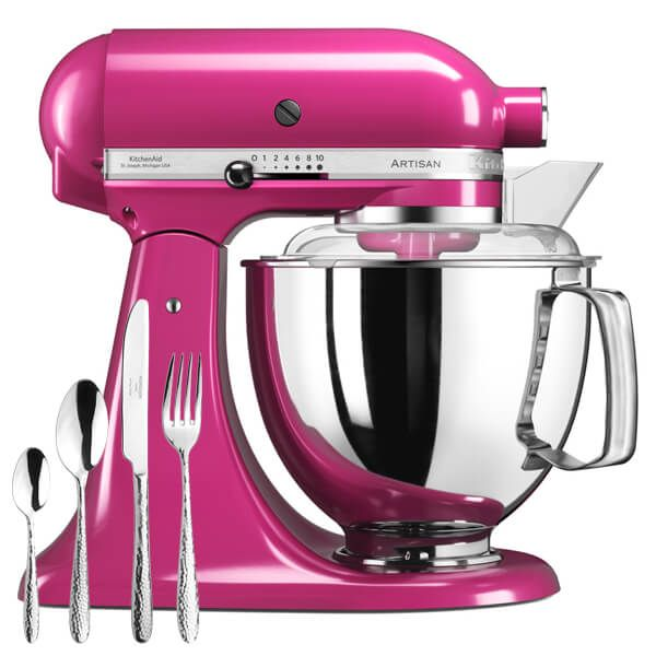 KitchenAid Artisan Cranberry Food Mixer With FREE Gift