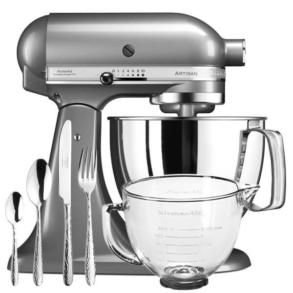 KitchenAid Artisan Mixer 175 Contour Silver With FREE Gifts