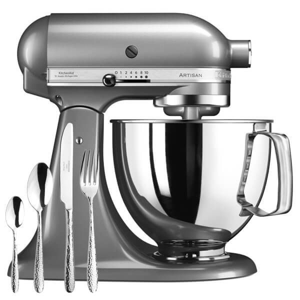KitchenAid Artisan Mixer 175 Contour Silver With FREE Gift