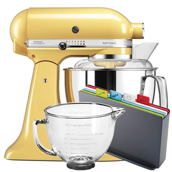 KitchenAid Artisan Mixer 175 Majestic Yellow With FREE Gifts