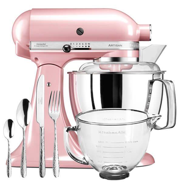 KitchenAid Artisan Mixer 175 Silk Pink With FREE Gifts