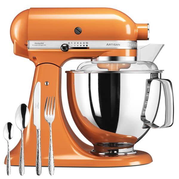 KitchenAid Artisan 175 Tangerine Food Mixer With FREE Gift