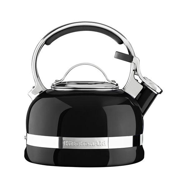 KitchenAid Onyx Black Stove Top Kettle 1.9 Litre