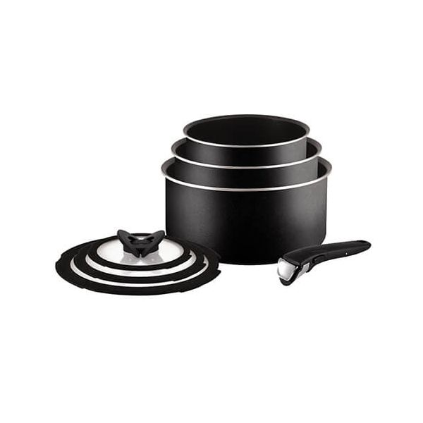 Tefal Ingenio Essential 7 Piece Saucepan Set
