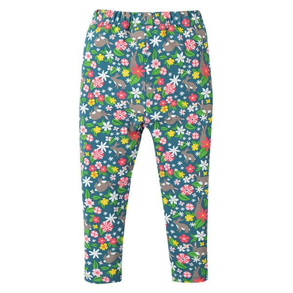 Frugi Organic Libby Printed Leggings Rabbit Fields