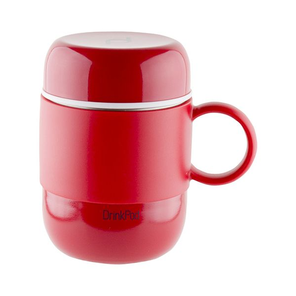 Grunwerg Pioneer Vacuum Mini Mug With Handle Red