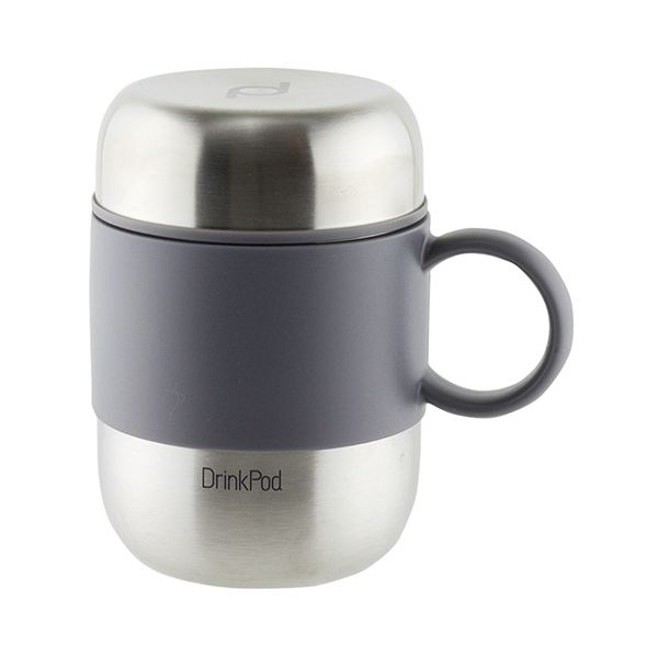 Grunwerg Pioneer Vacuum Mini Mug With Handle Stainless Steel