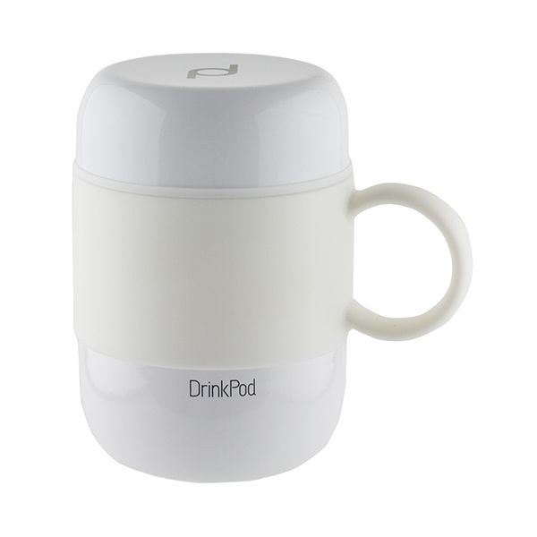 Grunwerg Pioneer Vacuum Mini Mug With Handle White