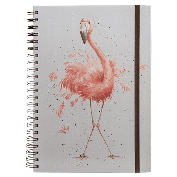 Wrendale Pretty In Pink Flamingo Large A4 Notebook