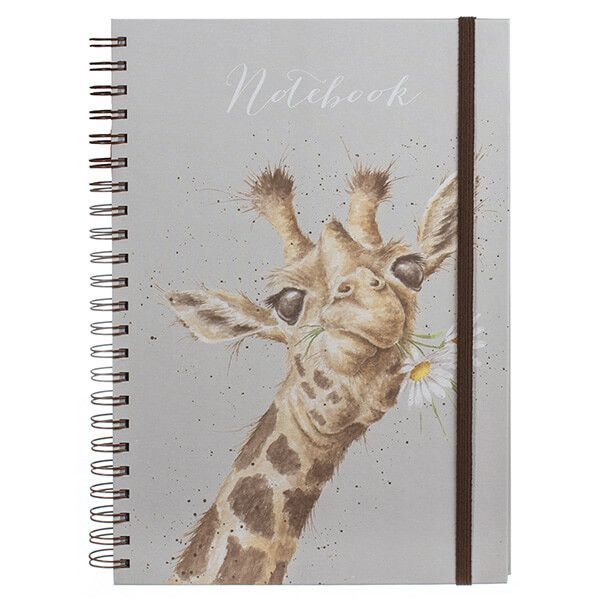 Wrendale Flowers Giraffe Large A4 Notebook