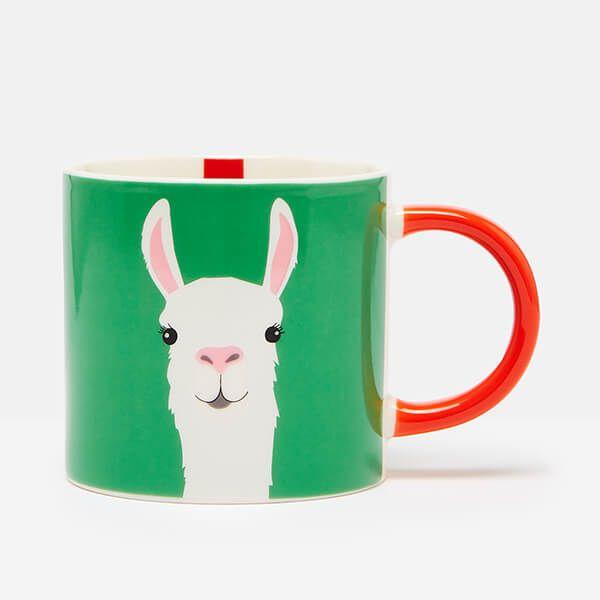 Joules Llama Green Mug
