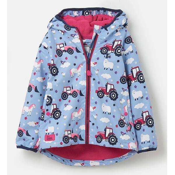 Lighthouse Farmyard Print Amelia Girls Coat