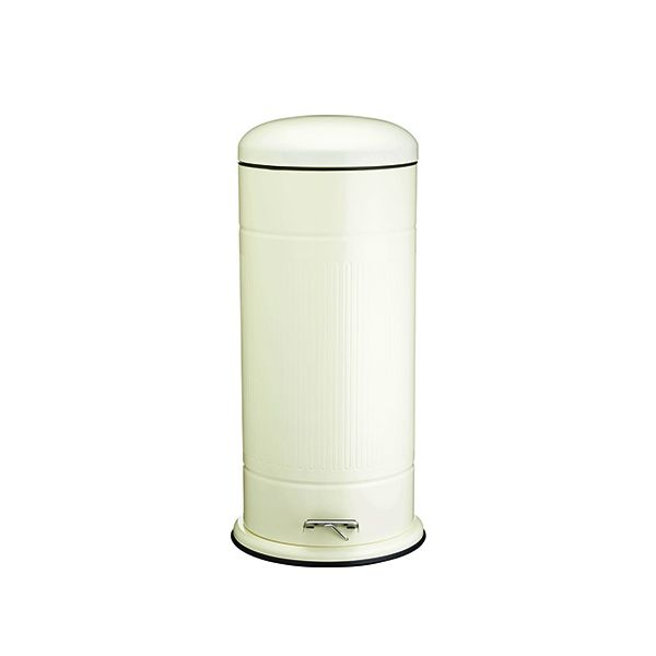 Living Nostalgia Antique Cream 30L Retro Pedal Bin
