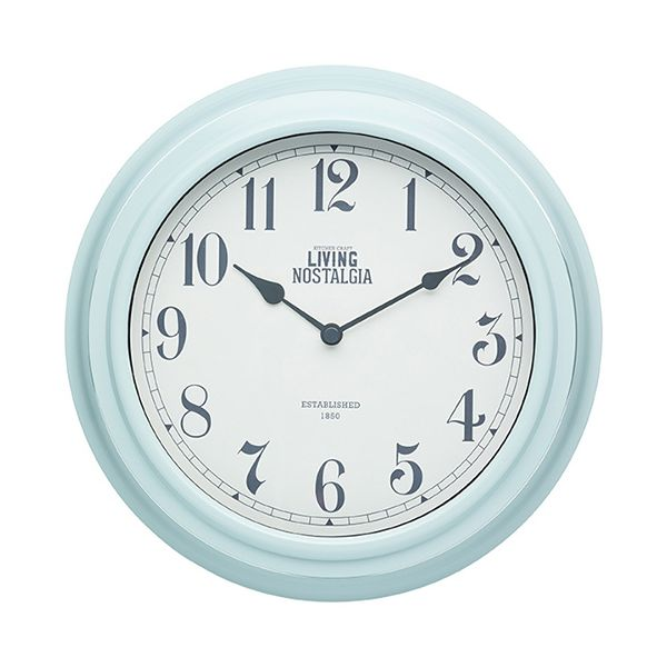 Living Nostalgia Vintage Blue Indoor Wall Clock