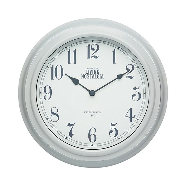 Living Nostalgia French Grey Indoor Wall Clock