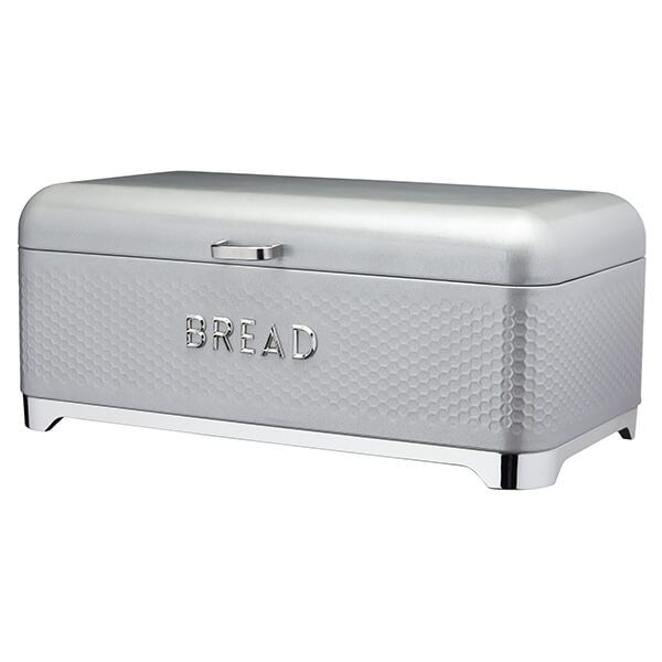 Lovello Retro Shadow Grey Textured Bread Bin