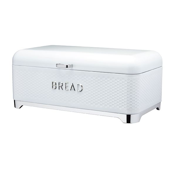 Lovello Retro Ice White Textured Bread Bin