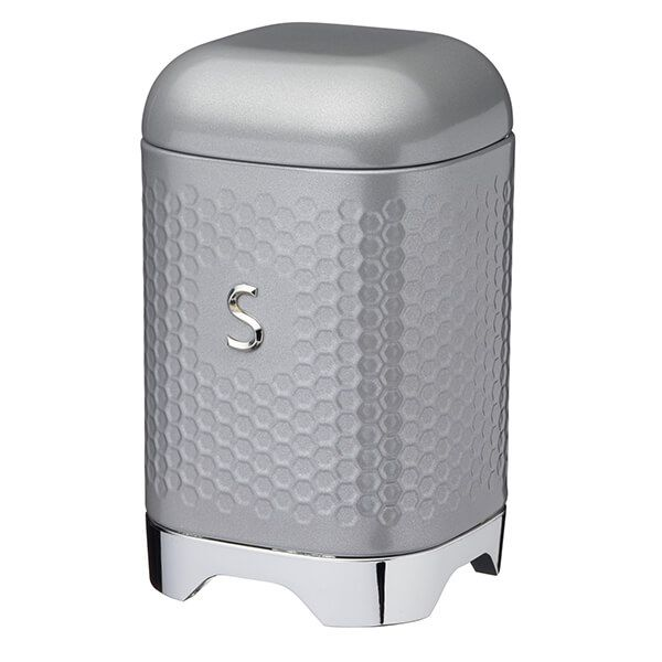 Lovello Retro Shadow Grey Textured Sugar Canister