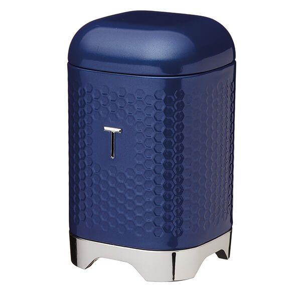 Lovello Retro Midnight Blue Textured Tea Canister