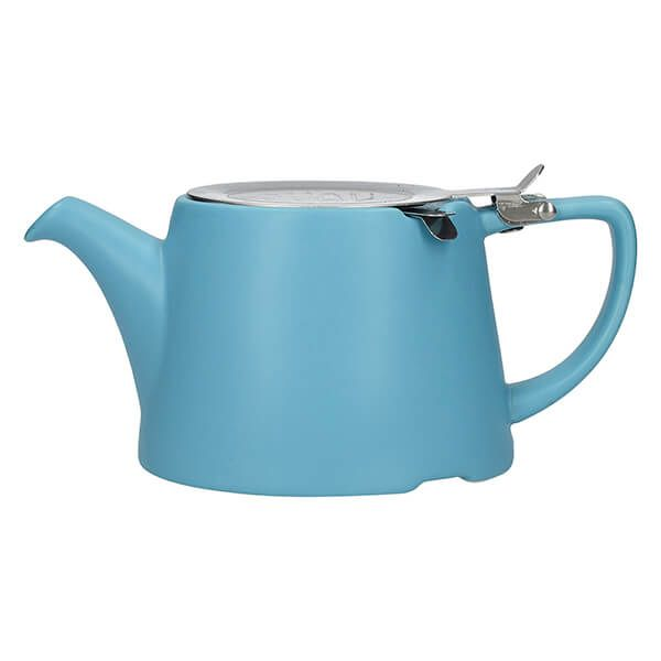London Pottery Oval Filter 3 Cup Teapot Satin Blue