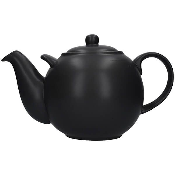 London Pottery Globe 10 Cup Teapot Matt Black