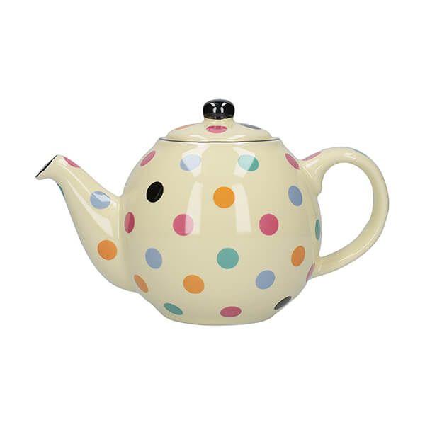 London Pottery Globe 2 Cup Teapot Ivory Multi Spot