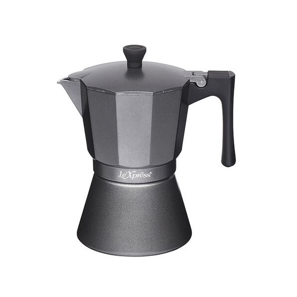 Le Xpress 6 Cup Espresso Coffee Maker Grey