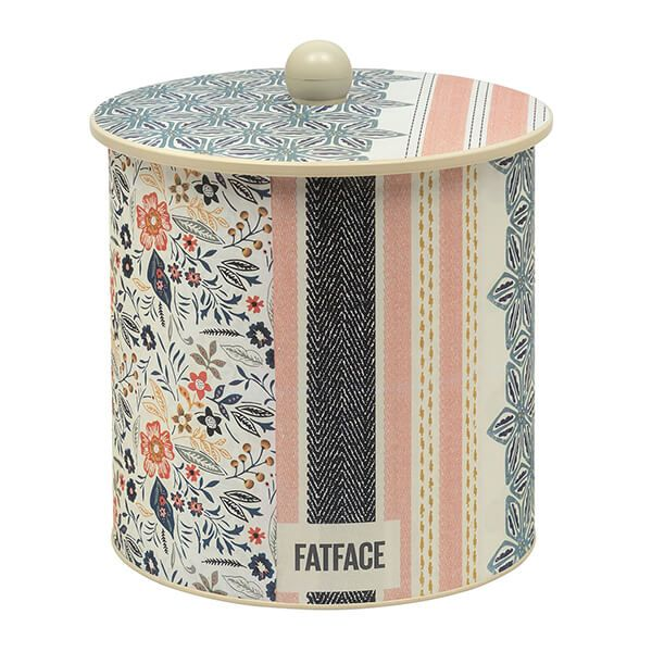 Fat Face Biscuit Barrel Tin