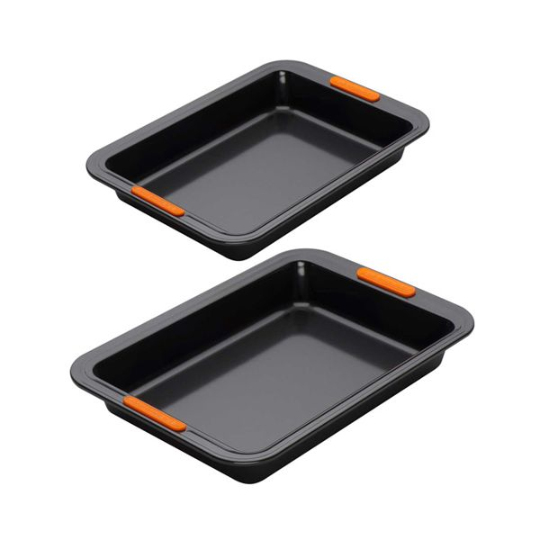Le Creuset Bakeware Twin Rectangular Cake Tin Set