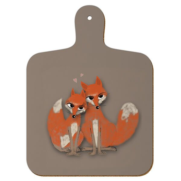 Melamaster Mini Chopping Board Fox