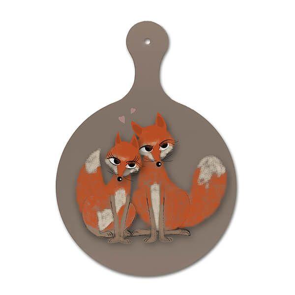 Melamaster Chopping Board Fox