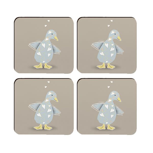 Melamaster Moulded Coaster Pack Of 4 Duck
