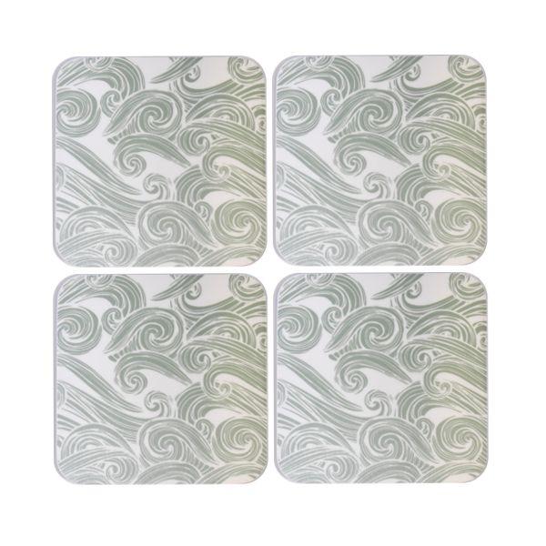 Melamaster Moulded Coaster Pack Of 4 Seashore