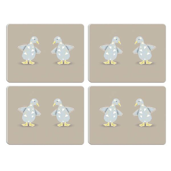 Melamaster Moulded Pack Of 4 Placemat Duck