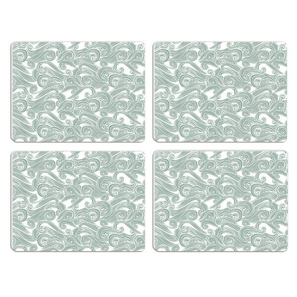 Melamaster Moulded Pack Of 4 Placemat Seashore