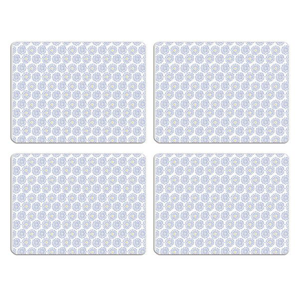 Melamaster Moulded Pack Of 4 Placemat Blooms