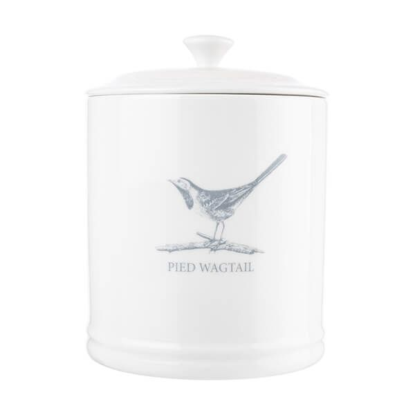 Mary Berry English Garden Tea Canister Pied Wagtail