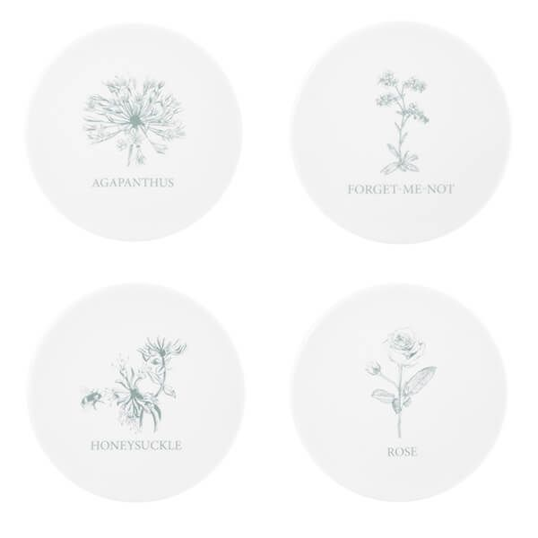 Mary Berry English Garden Set Of 4 Coasters Flowers
