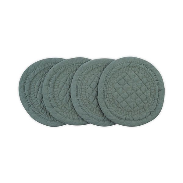 Mary Berry Signature Cotton Coaster Sea Green Pack Of 4