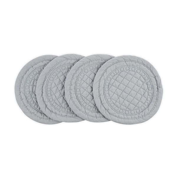 Mary Berry Signature Cotton Coaster Grey Pack Of 4