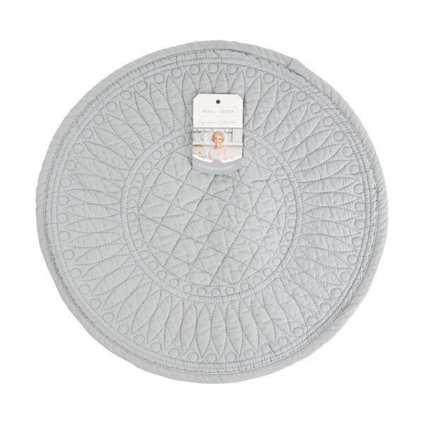 Mary Berry Signature Cotton Placemat Grey
